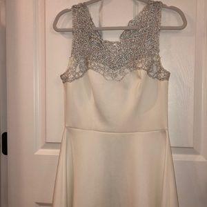 Trixxi White and Silver Prom Dress